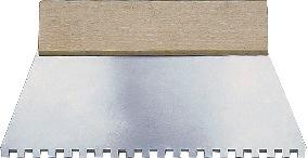 Lijmspatel HUFA B. 180 mm vertanding 4 x 4 mm met houten greep
