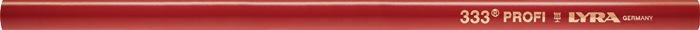 Timmermanspotlood 333 18cm ovaal ongeslepen, rood gepolijst prof. kwal. LYRA