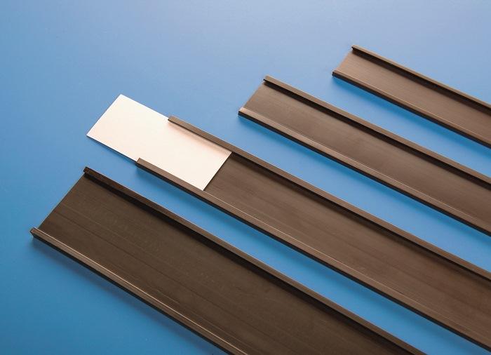 Etiketten/transparante folie B.37mm voor magn.C-profiel B.40 mm MAGNETOPLAN
