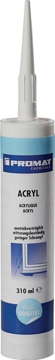 Acryl 310ml wit overschilderbaar reukloos plasto-elastisch cartouche