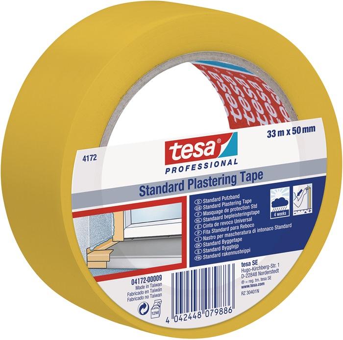 Stucband tesa® NOPI 4172 lengte 33m B. 50mm geel TESA