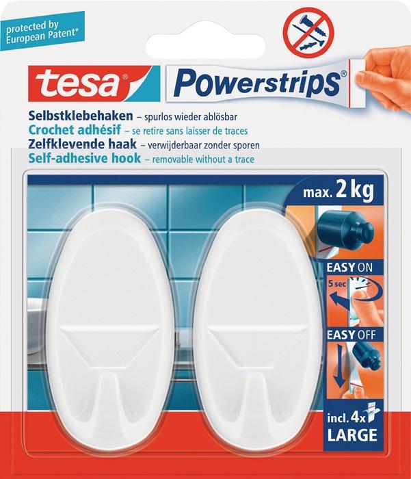 Kleefhaak tesa Powerstrips® Haken Large wit v. voorwerpen tot 1kg zb-kaart TESA
