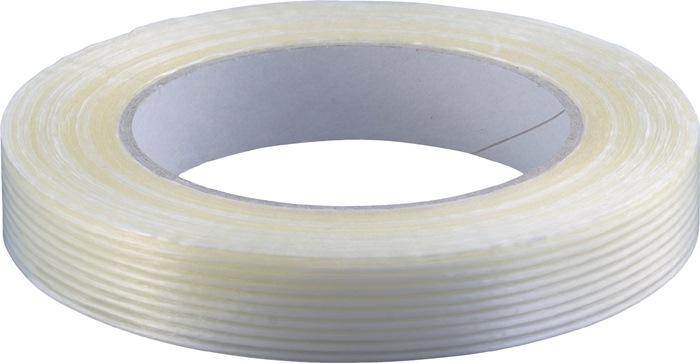 Filamentband L.50m B.19mm transparant PP-folie glasvezelverstevigd