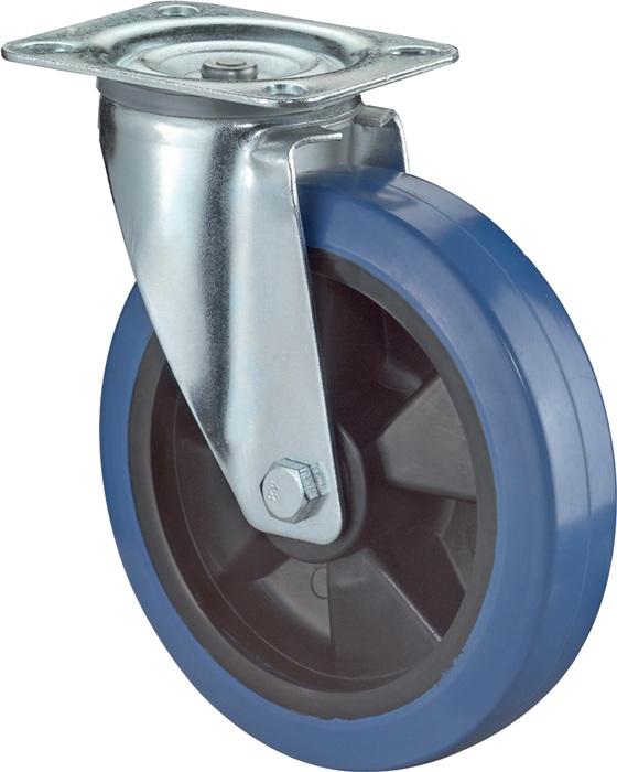 Zw.wl. d.200mm drgv. 300kg elastisch-massief rubber-wl pl. 138x109mm