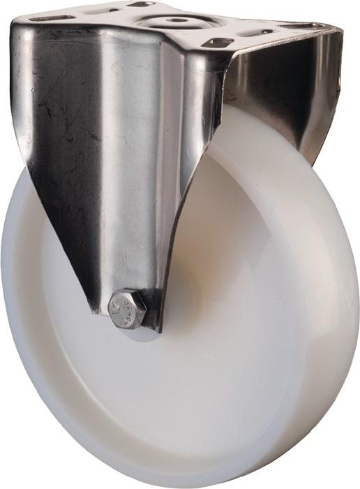 Bokwl A90 dia. 150mm drgv. 200kg ku.wl wit pl. 129x106mm BS ROLLEN