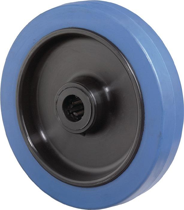 Wl d.125mm drgv. 140kg elastisch-massief rubber-Wl naafl. 50mm