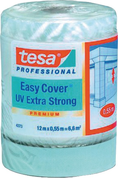 Beschermfolie 4373 UV lengte 12m B. 2600mm eenzijdig transparant rol TESA
