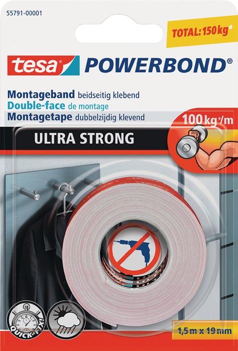 mont.band Tesa Powerbond 55791 10kg per 10cm 1,5mx19mm Ultra Strong blister TESA
