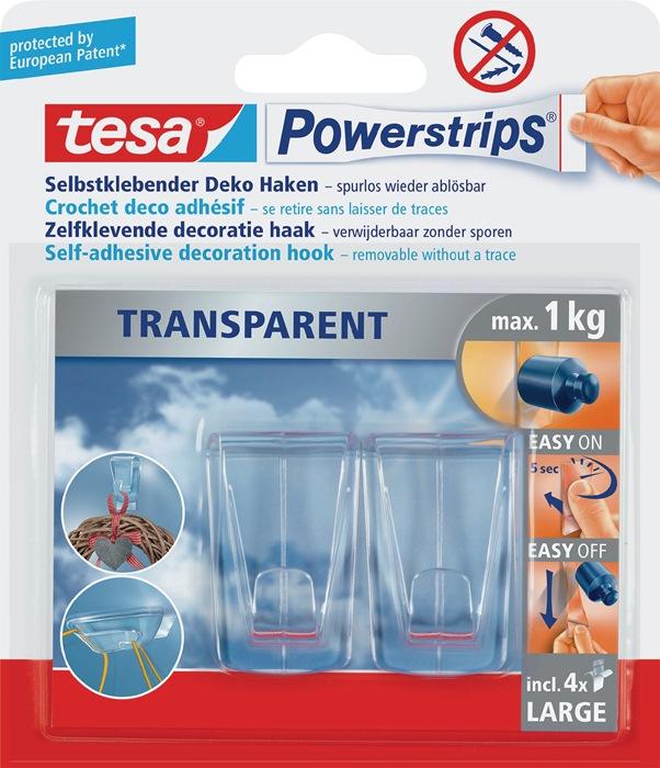 Tesa Powerstrips 58813 transparant blister TESA