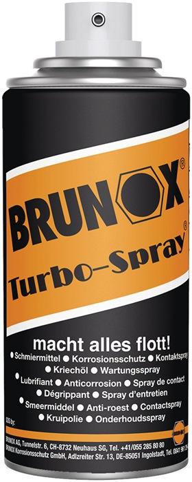 Multifunctionele olie Brunox inhoud 100ml 100ml spuitbus BRUNOX