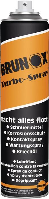 Multifunctionele olie Brunox inhoud 400ml 400ml spuitbus BRUNOX