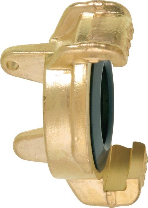 Slangafsluitkoppeling GEKA geschikt v.slang en schroefdraadstangen messing GEKA