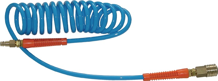spiraalslang Slang-L.6m blauw G1/4Z PUR