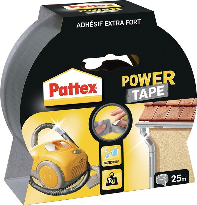 Weefselafdicht.b. PowerTape silv. PT2DS Power-Tape rl 50mmx25m zilver rl