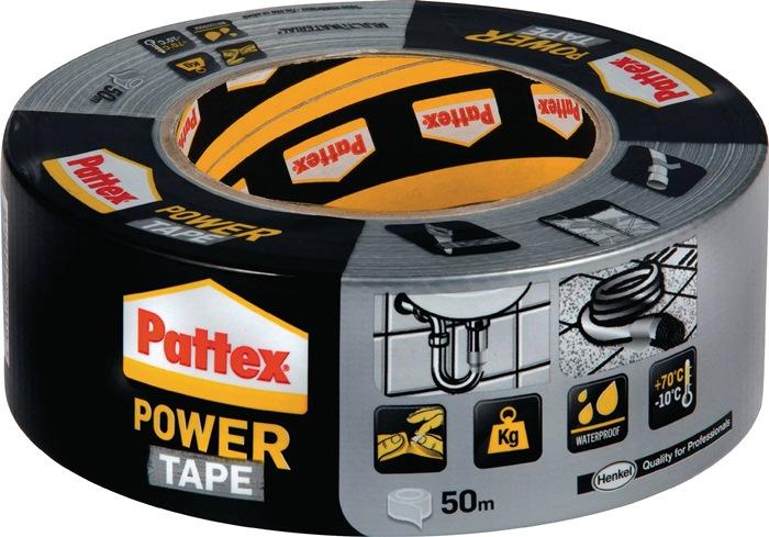 Weefselafdicht.b. PowerTape silv. PT5SW Power-Tape rl 50mmx50m zilver rl