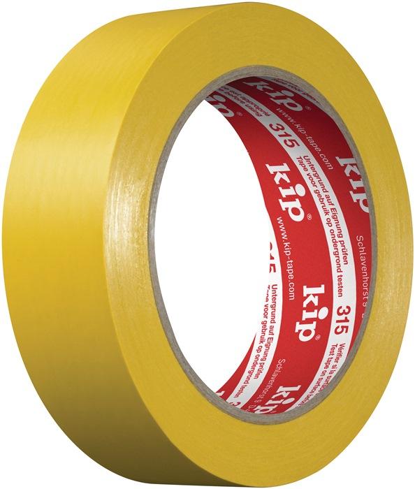PVC-beschermband glad 315 33m x 50mm geel rol KIP