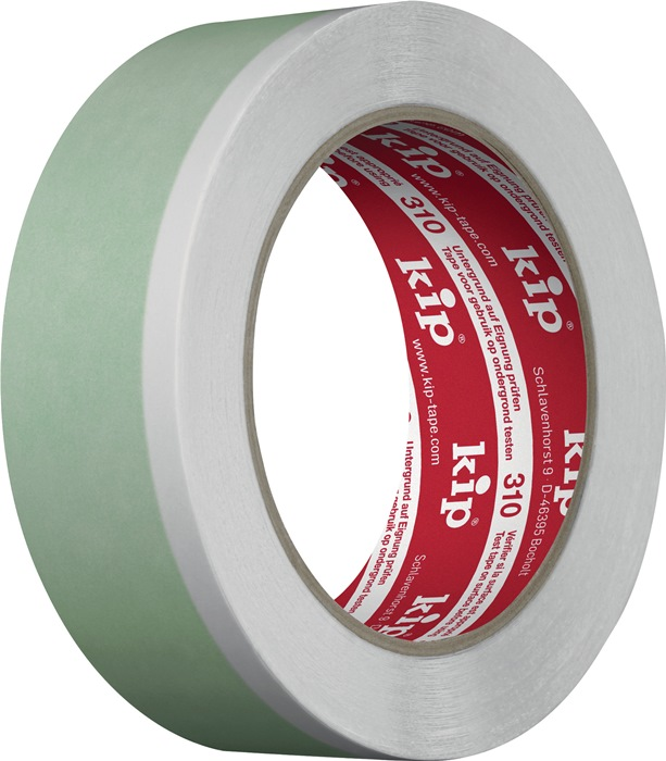 Textielversterkte tape 310 L.25m B.25mm groen/wit professionele kwaliteit KIP