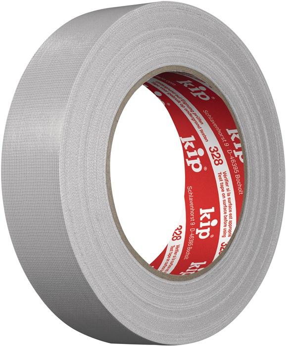 Textielversterkte tape 328 L.25m B.30mm grijs professionele kwaliteit KIP