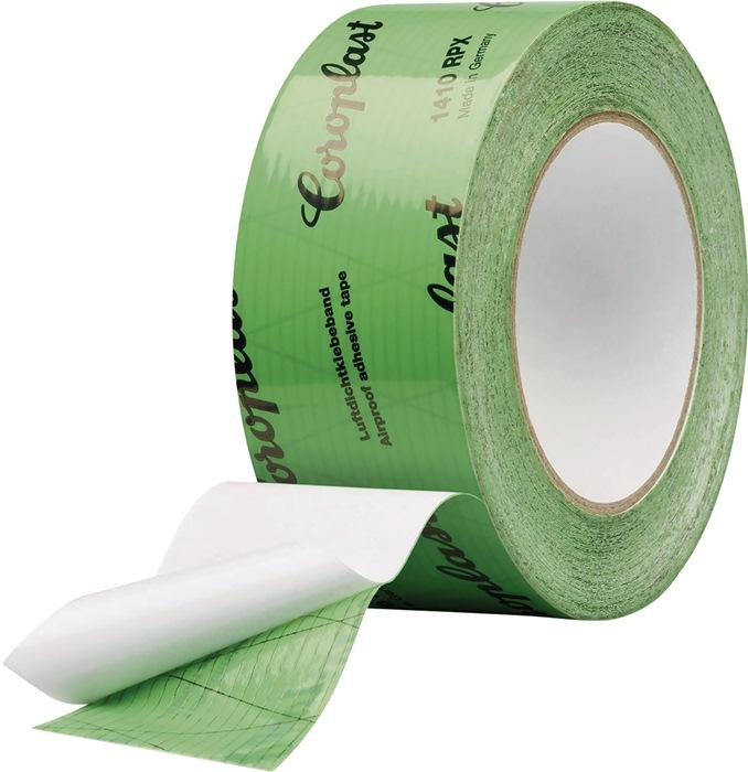 Folieplakband grijs rol 50mm x 25m groen rol COROPLAST
