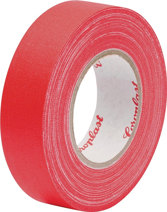 Textielversterkte tape rood 0,28mm x15mm x25m geel rol COROPLAST