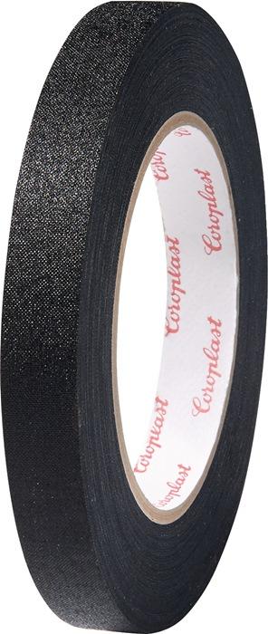 Textielversterkte tape zwart 0,28mm x19mm x25m zwart rol COROPLAST