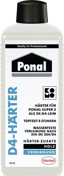 D4 verharder Ponal inhoud 250g v.Ponal Super 3 PNI 3N 250g fles PONAL