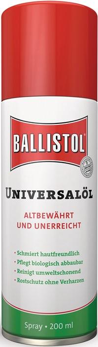 Universele olie Ballistol inhoud 50ml spray spuitbus BALLISTOL