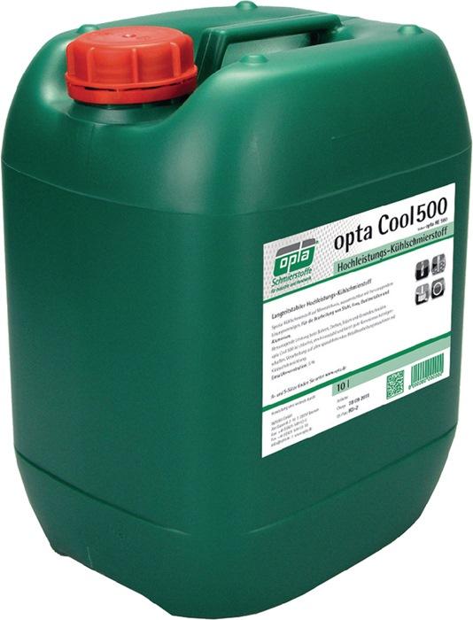 Hogepr. koelsmeerstof Opta Cool500/HE500 inh. 10l vermengb. m.water vloeist.vat