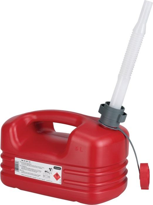 Brandstofjerrycan Inhoud 5l schenktuit tuit-D. 20mm/L.195mm rood