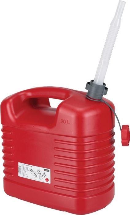 Brandstofjerrycan Inhoud 20l schenktuit tuit-D. 20mm/L.195mm rood