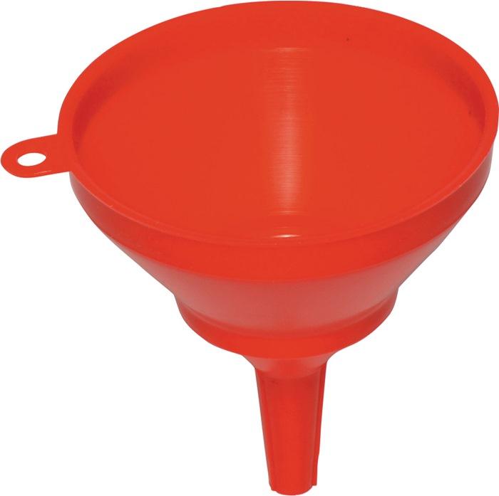 Trechter PE rood met zeef 250mm olie-, zuur- en brandstoffenbestendig REILANG