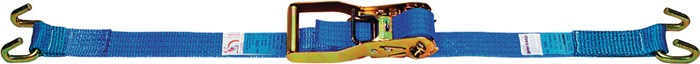 Sjortakel EN 12195-2 L.8m B.50mm LC:2000 daN m.raamhaak omsnoering 4000daN (kg)