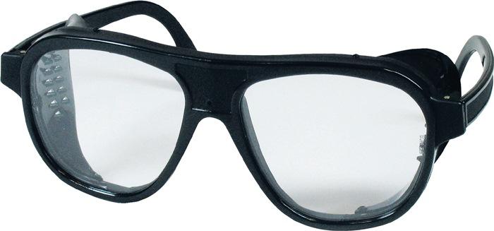 veilbr knststfglazen, helder m.zijkleppen zwart nylon Glasmaat 62x52mm 10 st/VE