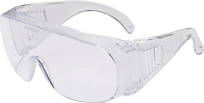 Veiligheidsbril EN166 Kunststof glazen, helder licht stootvast 12st./VE