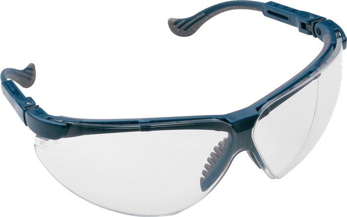 veilbr EN166 XC montuur blauw, Fogban-glas helder krasvast niet beslaand