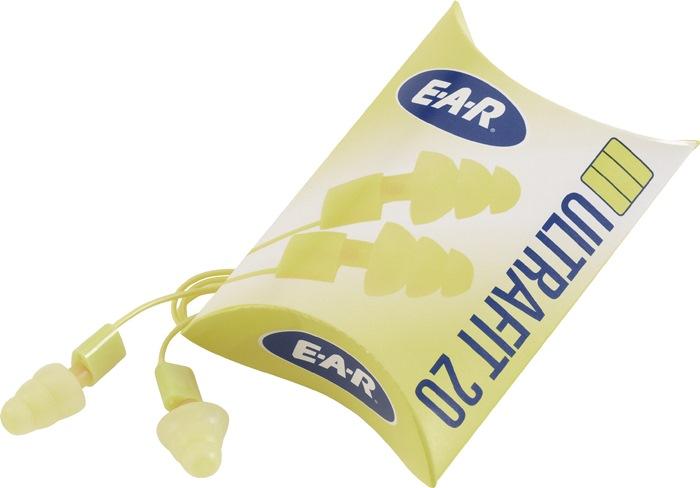 Oordopjes EN352-2 EAR ULTRAFIT 20 SNR=20dB tot 93dB m.band vouwverp 50p in doos