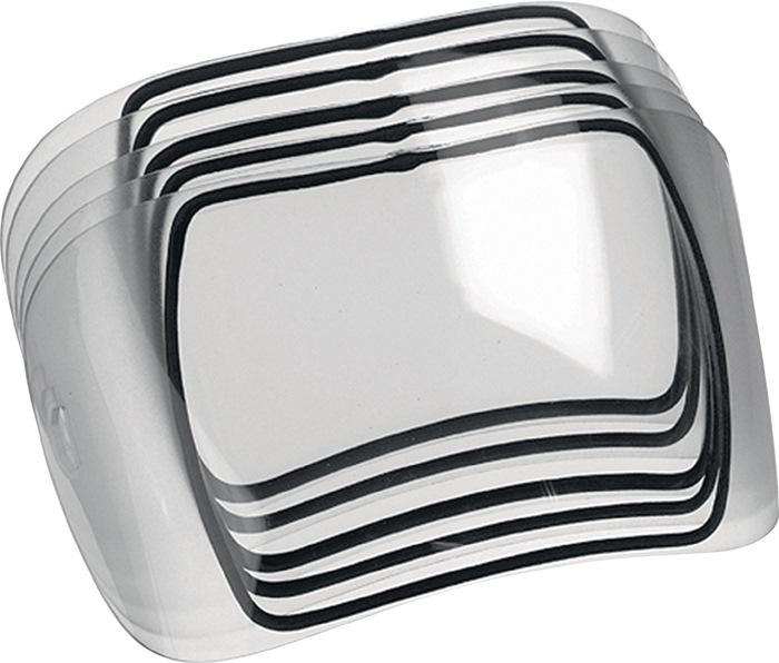 Voorzetglas buiten 240x100mm toebehoor v. Optrel lasscherm e640/e650/e670/e680