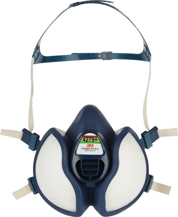 Halfgelaatsmasker t.b.v. dampen FFABEKP3RD m.uitadvent m.4-punts-hoofdband