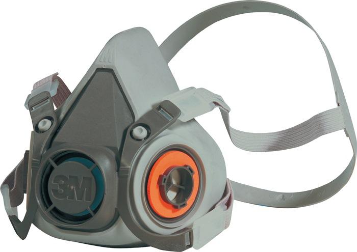 Halfgelaatsmasker 6200 mt.M Lev. z. filter verpakt in doos m.4-pnt hoofdbanden