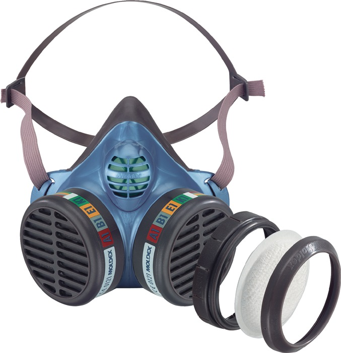 Halfmasker 5984 m.filtercartouche FFA1B1E1K1 P3RD org. gas/damp wegwerpmasker