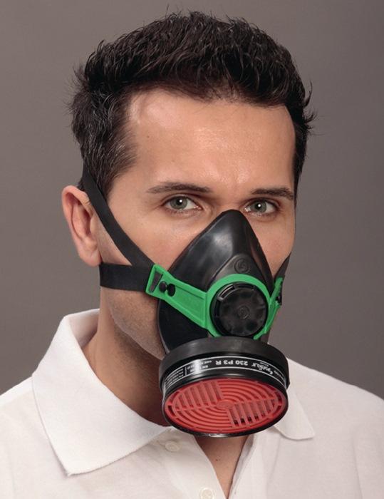Halfmasker adembescherming Polimask m.schroefdr. 95mm z.ademfilter v.brildrager