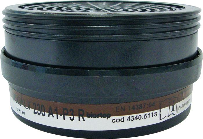Combinatiefilter 230 A1-P3RD Bescherm tgn org gas/damp A1-P3RD m.BIOSTOP 2st/zak