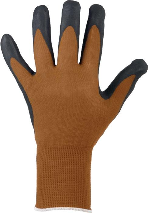 Handschoenen EN388cat.IIDalian mt. 9 nitrilschuimlaag coating fijn breiwerk 12p