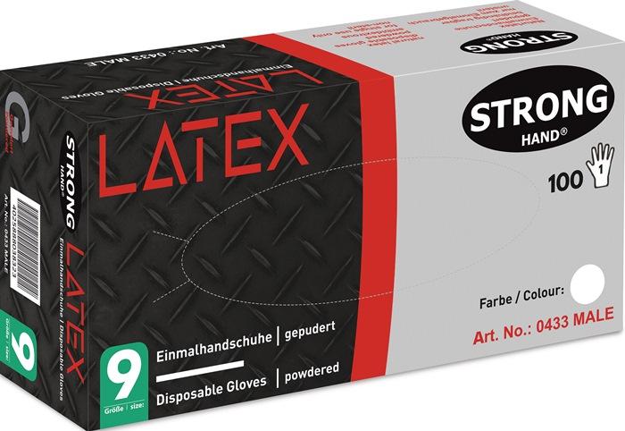 Wegwerphandschoen EN 455 AQ 1,5 Male mt. L latex box à 100 stuks