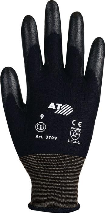 Handschoen mt.8 gedeeltelijke PU-coating vloeistofafstotend EN388 cat.II