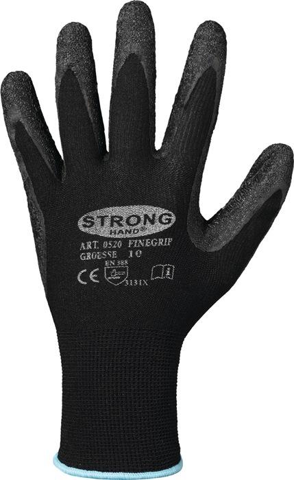 Handschoen EN388cat.II Finegrip mt.9 krimp-latexcoating fijn breiwerk 12p