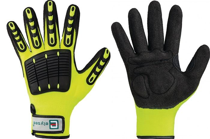 Handschoen EN 420cat.I Resistant mt.9 kunstvezels handpalmverst