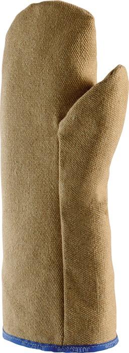 Hittebesch.handschoen l30cm max.800graadC/kortd. PBI-stof wanten Jutec
