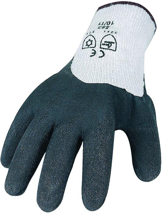 Werkhandschoen koude bestendig mt.L PES/kat. rondgebr.opgeruwd profiel zwart 6p