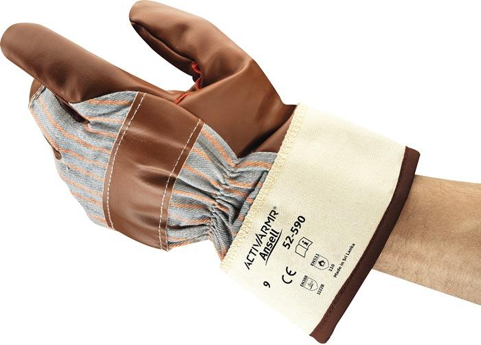 Handschoen EN388/511cat.II Winter Hyd-Tuf 52-547 mt.10 kat.-jersey nitril bruin